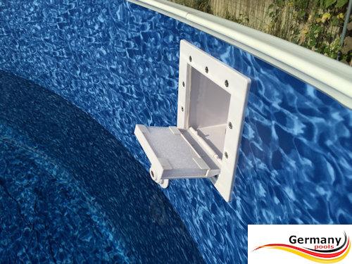 Skimmerklappe richtig einbauen schwimmbad und saunen for Pool einbauen
