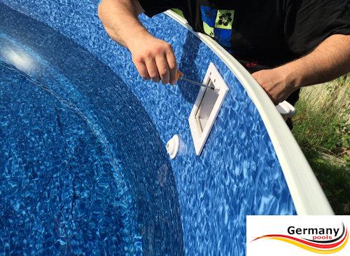 Skimmer montage skimmer einbau skimmer einbauen for Poolfolie montieren