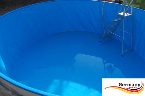 Pool bausatz awesome moderner pool und garten bsw with for Stahl pool rund