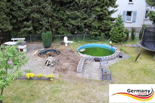 Schwimmbecken aufbauanleitung swimmingpool montage for Stahlwandpool im garten