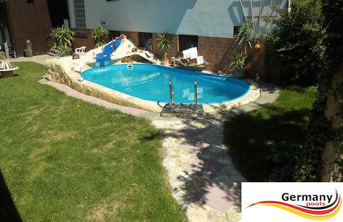Ovalpool aufbauanleitung ovalbecken montage aufbau for Garten pool versenkbar