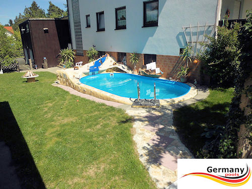 Stahlwandpool teilversenkt anleitung  Pool-Gestaltung | Pool-Bilder | Schwimmbad-Gestaltung | Germany-Pools