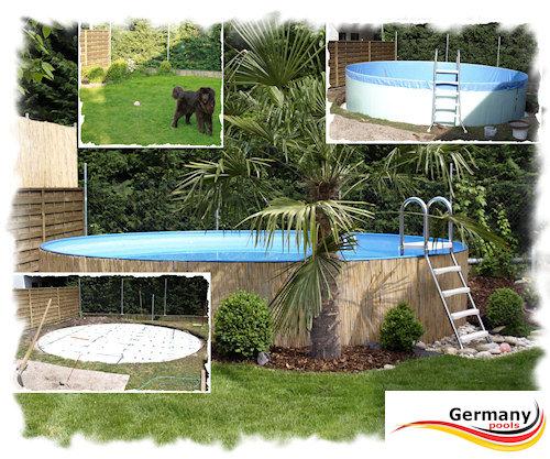 Poolaufbau schwimmbadbau pool montage for Pool innenfolie