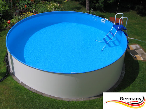 Rundpool stahlwandpool rundbecken germany pools - Swimmingpool edelstahl ...