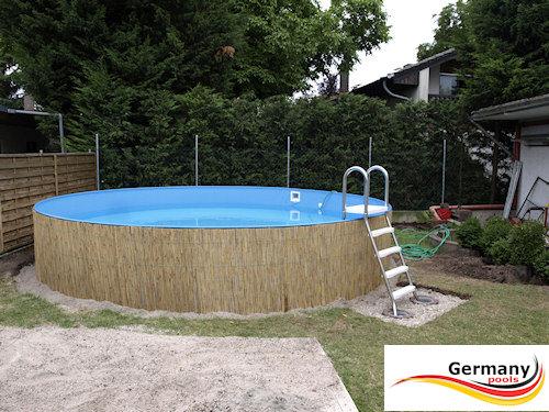 Poolaufbau schwimmbadbau pool montage for Schwimmbad innenfolie