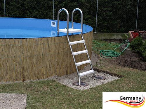 Poolaufbau schwimmbadbau pool montage schwimmbeckenbau swimmingpoolbau germany pools - Stahl swimmingpool ...