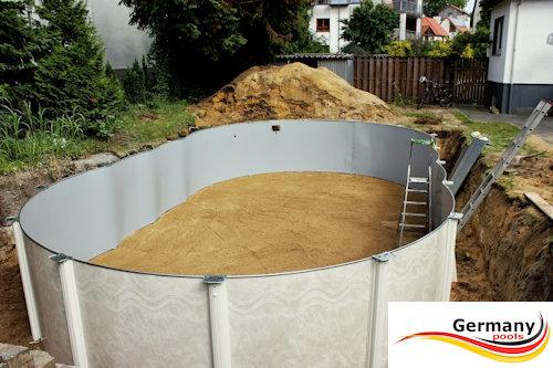 Schwimmbecken aufbauanleitung swimmingpool montage for Aufbau stahlwandpool